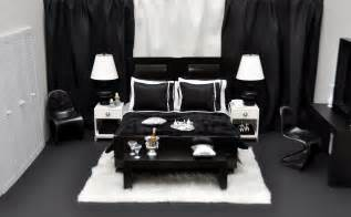 schlafzimmer schwarz black and white themed bedroom widescreen decobizz