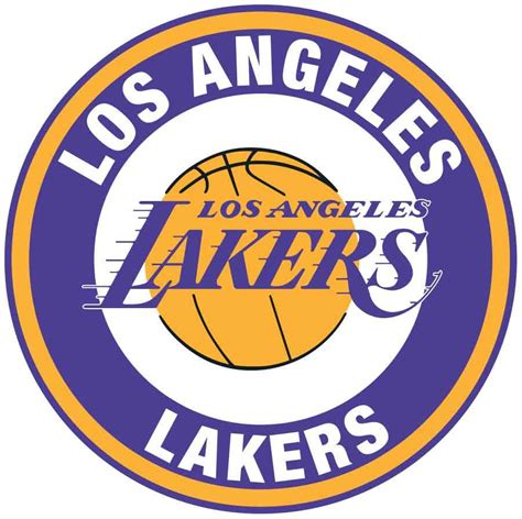Los Angeles Lakers Circle Logo Vinyl Decal / Sticker 5 ...