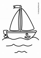 Coloring Pages Transportation Ship Boat Sailing Crafts sketch template