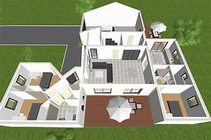 Plan Grande Maison : plan grande maison moderne le monde de l a ~ Melissatoandfro.com Idées de Décoration