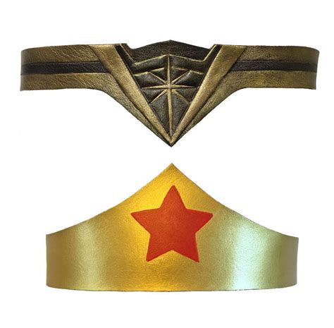 wonder woman tiara leather crown headband tiara gal gadot of justice ebay