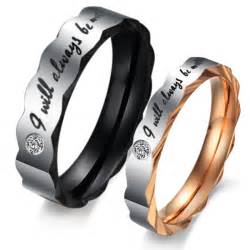 wedding bands for couples titanium stainless steel mens promise ring wedding bands matching set 3207 at 24