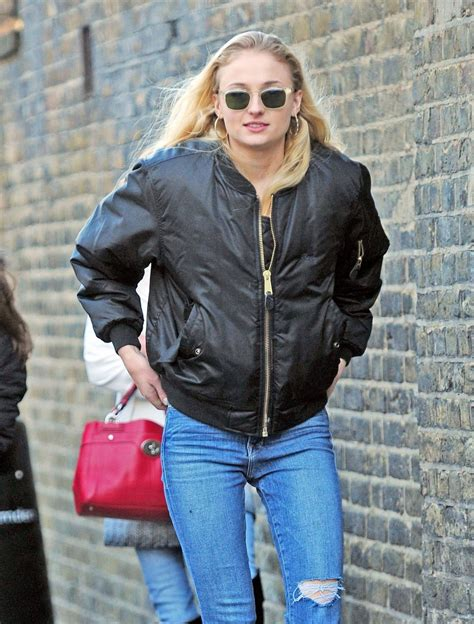 SOPHIE TURNER in Jeans Out in London 12/05/2016 – HawtCelebs