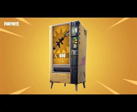 fortnite vending machine locations revealed   update