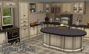 Cargeaux kitchen conversion by sandy teh sims for Sims 3 interior design kitchen