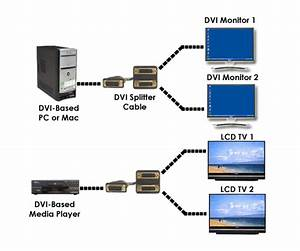 New Dvi Splitter Y Cable For Dual Dvi Displays
