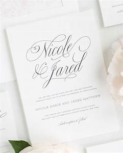 Garden Script Wedding Invitations Wedding Invitations By