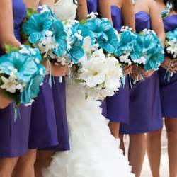 turquoise and purple bridesmaid dresses purple and turquoise wedding inspiration the merry