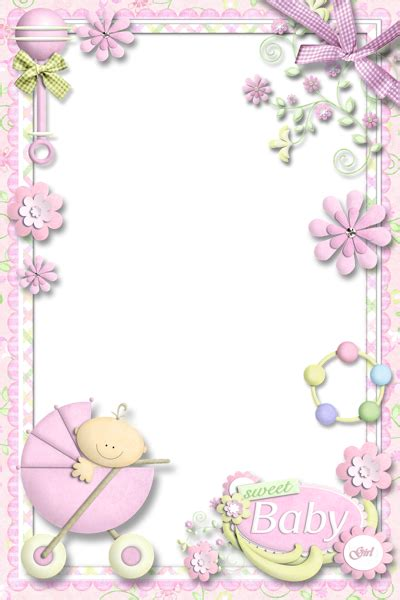 baby girl clipart borders  frames   cliparts