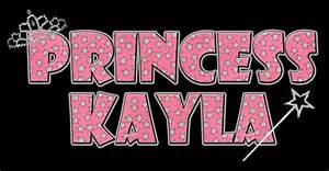 Kayla In Bubble Letters - Sample Letter Template