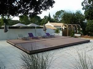 Mobile Terrasse Pool : terrasse mobile pooldeck azenco montpellier piscines et terrasses du languedoc ~ Sanjose-hotels-ca.com Haus und Dekorationen