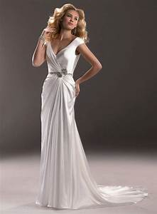 buy cheap deep v neck back satin bride dress for wedding party With wedding dress party