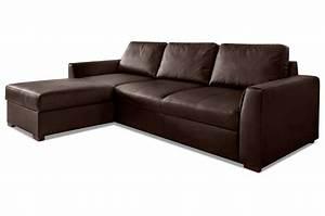 Sofa Mit Schlaffunktion Leder : leder ecksofa moreno mit schlaffunktion braun sofas ~ Bigdaddyawards.com Haus und Dekorationen