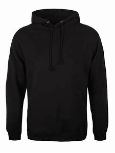New Plain Hoodie - Black Pullover Mens | eBay