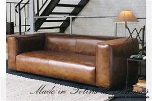 photos canape style industriel With canape cuir marron style industriel