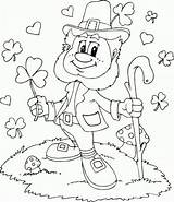 Coloring Leprechaun Pages sketch template