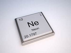 Neon Chemical Element water uses elements metal gas