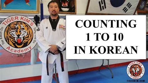 Tiger Kim's Academy Korean Numbers Counting 1 To 10 In