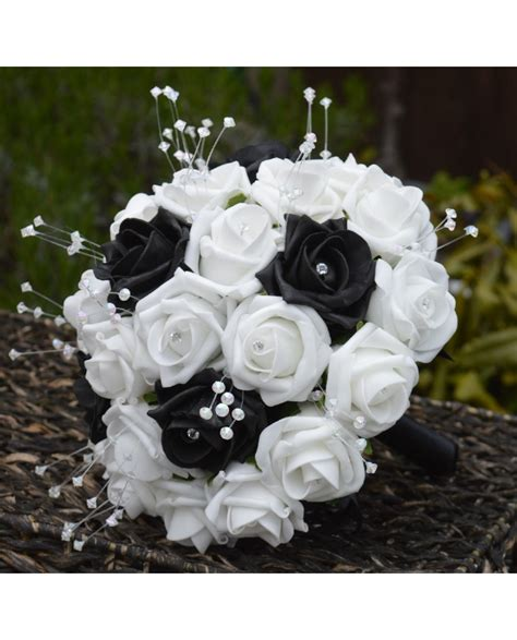 Black And White Bridal Flower Bouquets And Posies Wedding