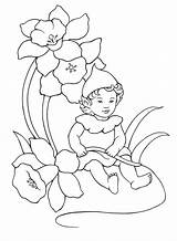 Elf Coloring Baby Pages Elves Fairies sketch template
