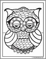 Coloring Pages Geometric Owl Mosaic Colouring Complex Printable Simple Pdf Print Drawing Adults Patterns Heart Animal Lion Detailed Spring Designs sketch template