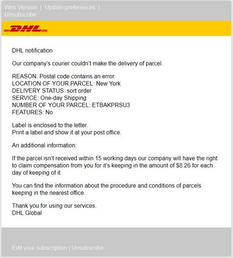 dynamoos blog dhl spam dhl label id