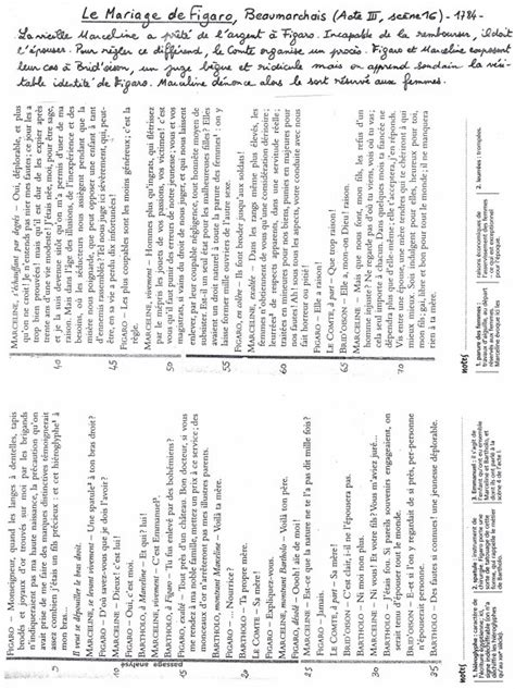 le mariage de figaro acte 3 scène 16 résumé la sc 200 ne de marceline b e a u m a r c h a i s aide