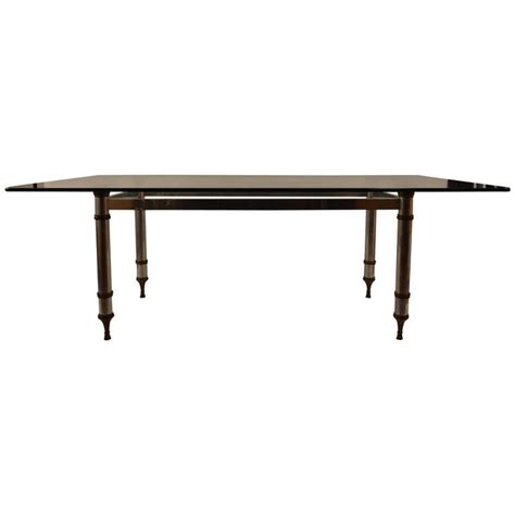 dining table bases for sale glass top aluminum and brass base dining table for sale at