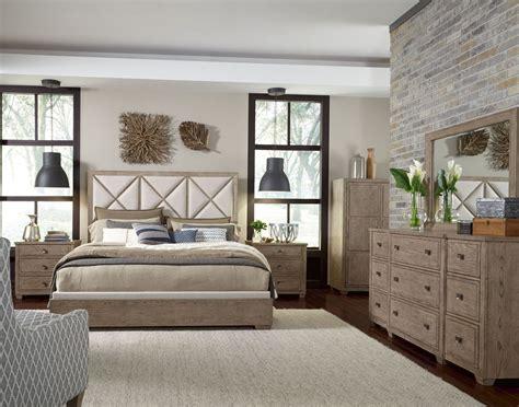 bridgewater weathered oak upholstered bedroom set