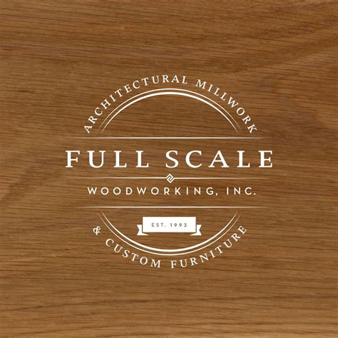badge style logo design  full scale woodworking