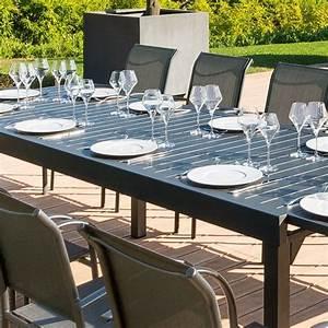 Table De Jardin Extensible Aluminium : table de jardin extensible aluminium piazza 320 x 100 cm graphite table de jardin eminza ~ Melissatoandfro.com Idées de Décoration