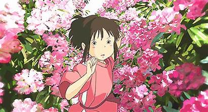 Ghibli Chihiro Spirited Aesthetic Away Studio Flowers