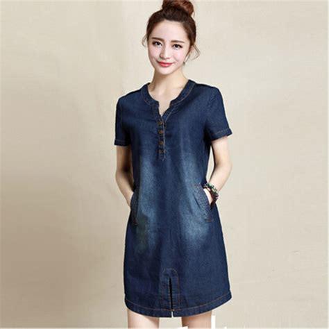 dress denim m xxxl denim dress summer 2015 new arrivals cotton