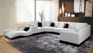 moderne coin canapes et canapes d39angle en cuir pour With tapis de souris personnalisé avec canape angle cuir beige