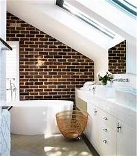 lovely bathroom accent wall lovely brick feature wall from edwina mccann's home #bathroom | Home Decor | Pinterest | Exposed ...