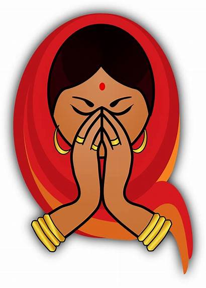 Indian Clipart India Woman Festival Hindu Greeting