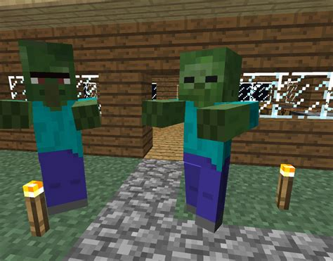 minecraft village zombie door build zombies villagers proof fence villager gates wolves into buildings houses turn night kill steve designs