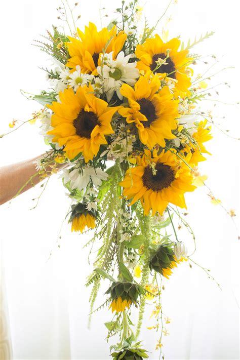 Cascading Bouquet Designed With Oncidium Orchids