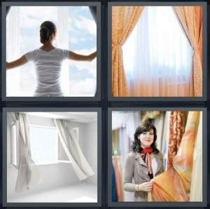 Heavy Curtain Fabric Crossword by 4 Pics 1 Word Answer For Window Drapes Wind Fabric