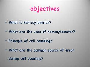 Haemocytometer Lectuer
