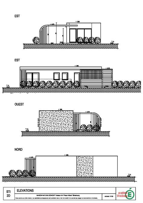 plan maison en elevation studio design gallery