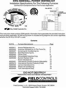 Field Controls 46334200 Instruction Manual Manualslib