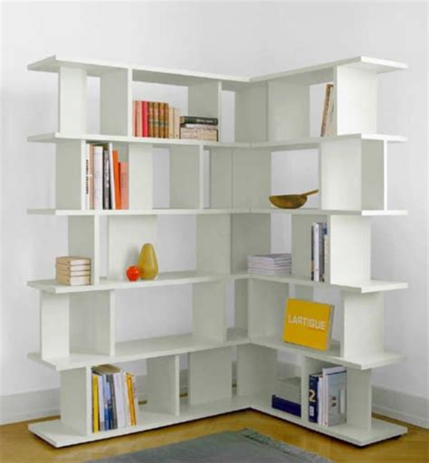 Small White Corner Bookcase by 30 Corner Shelf Ideas Ambie