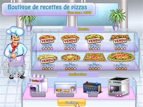jeu de cuisine pizza gratuit jeu pizza chef à télécharger en français gratuit jouer