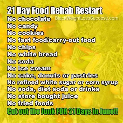 challenge  day food rehab restart junk food