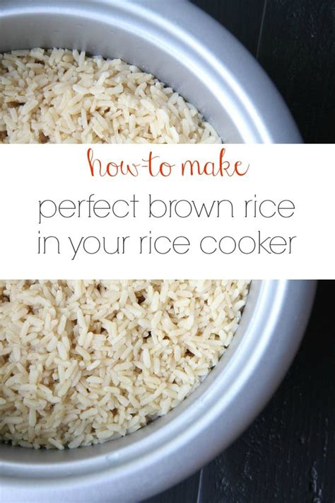 how to cook brown rice make ahead tutorial how to make perfect brown rice in your rice cooker momadvice