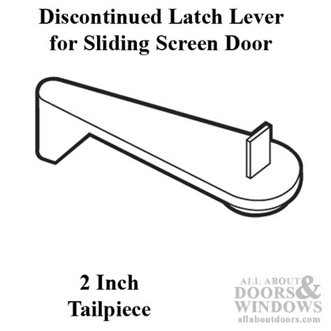 latch lever sliding patio door black plastic with steel pin