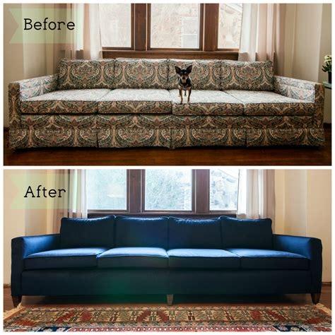 how much is it to reupholster a sofa couch before after mid mod mad men pinterest couch