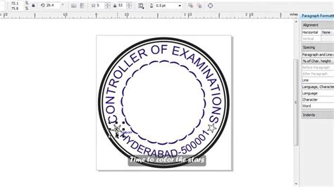 simple stamp  corel draw english subs
