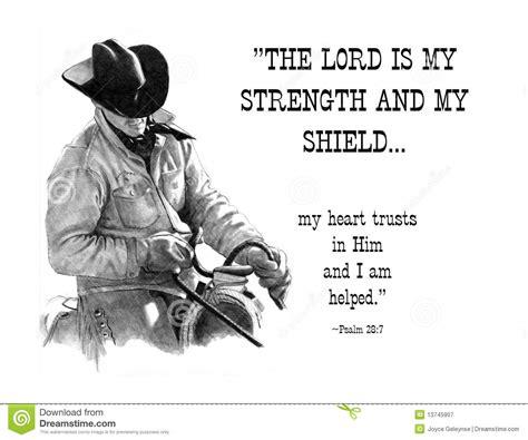 bleistift zeichnung des cowboys mit bibel vers stock